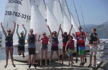 LeaderShip participants next to sailboats