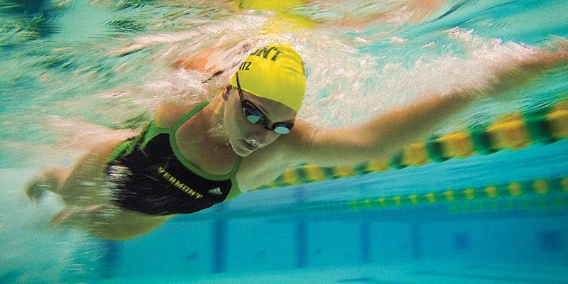 Sarah Mantz in the pool