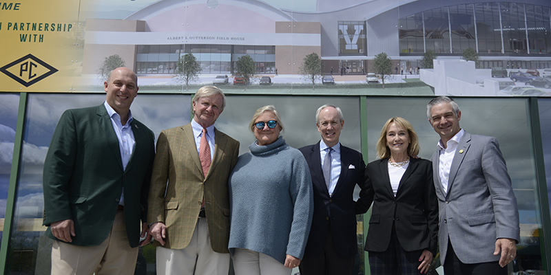 The Davises at groundbreaking for Multi-Purpose Center