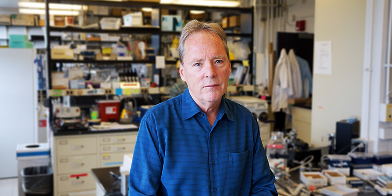 UVM's Mark Nelson in his lab