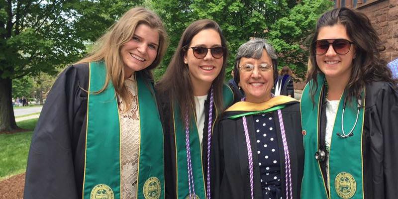 Nursing students at graduation in 2016