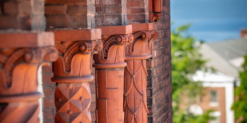Detail of architectural carving on Williams Hall