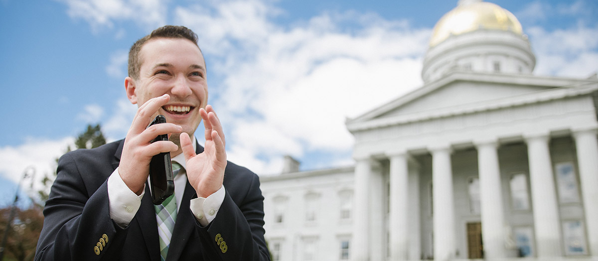 Jason Maulucci at Vermont State House