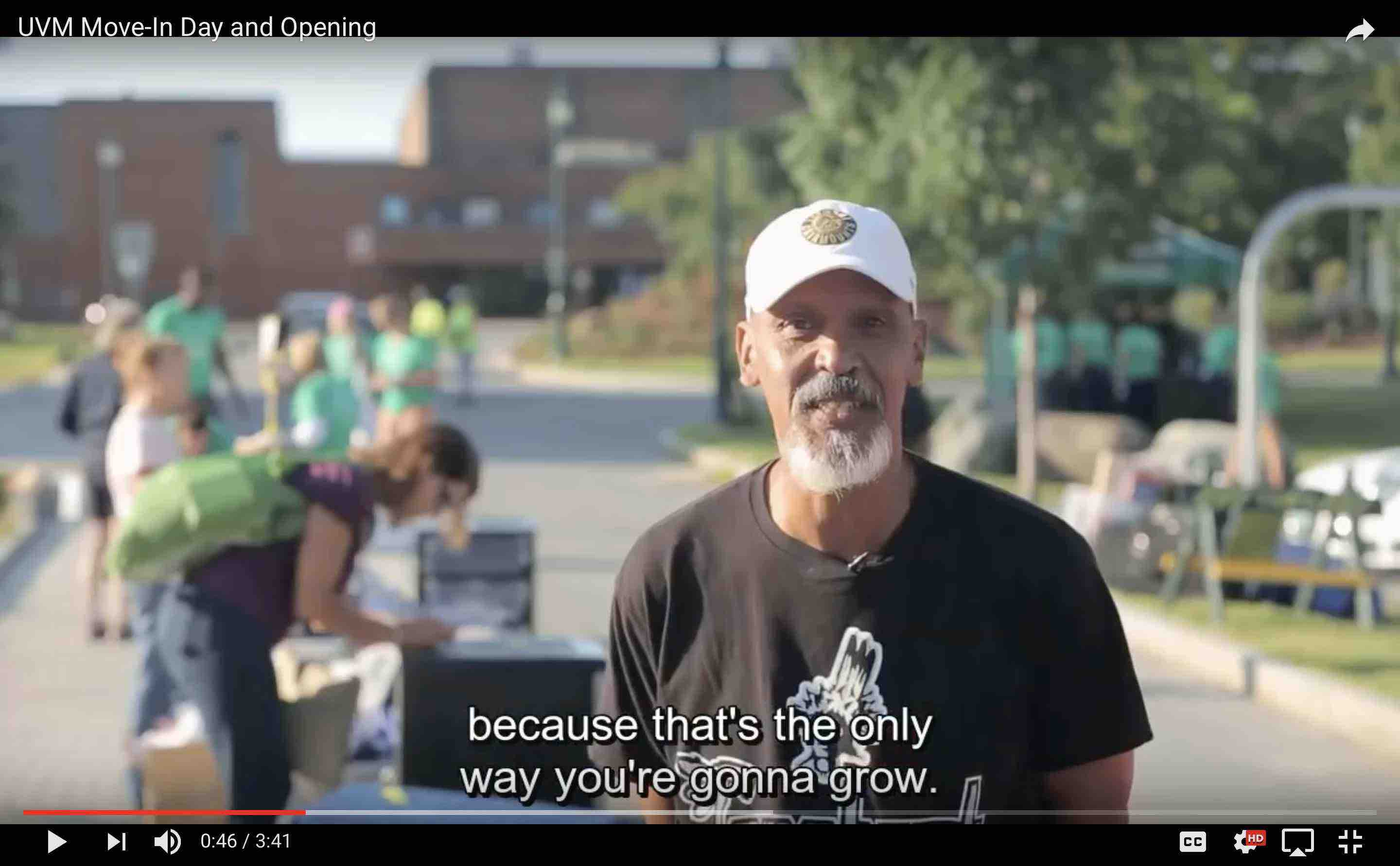 Youtube video - UVM Move In and Opening Weekend