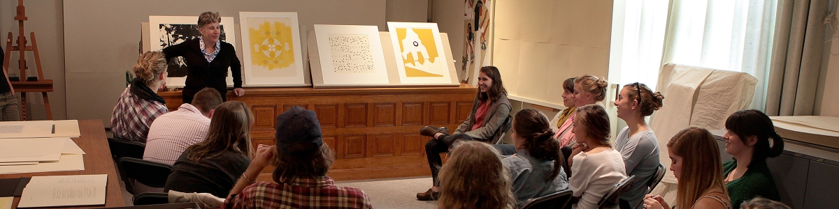 UVM class visits the Fleming Museum of Art