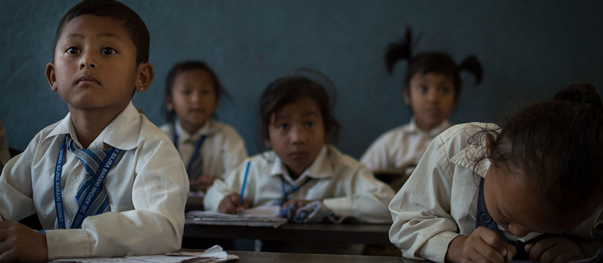 Elementary students from Ben Teasdale's class in Nepal
