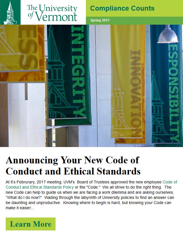 Spring 2017 Compliance Counts Newsletter
