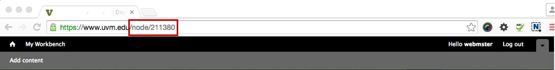 node in url - image