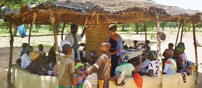 UVM alumna volunteering with the Peace Corps