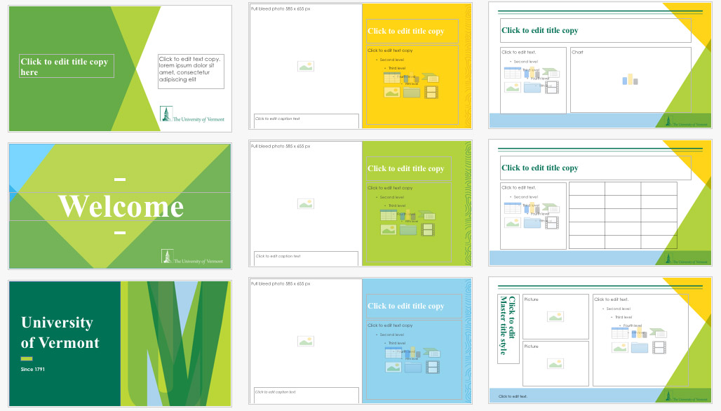 downloads and examples university of vermont creative style guide