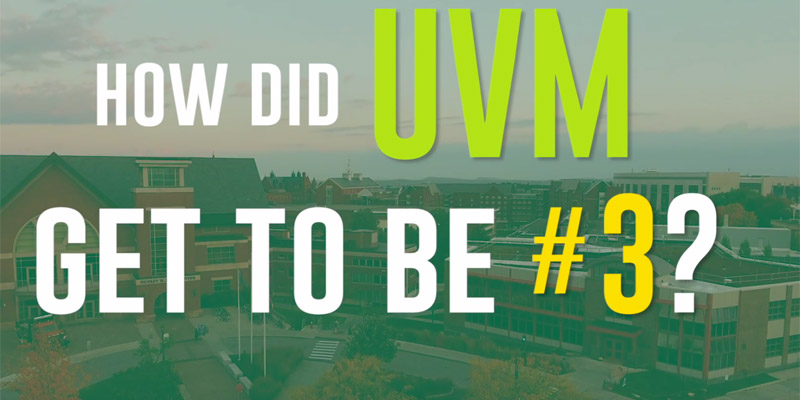 How did UVM get to be the #3 green school?
