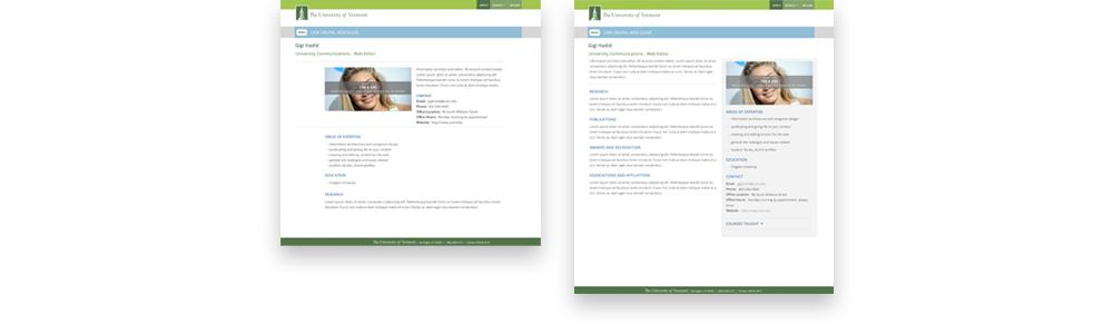 profile layouts
