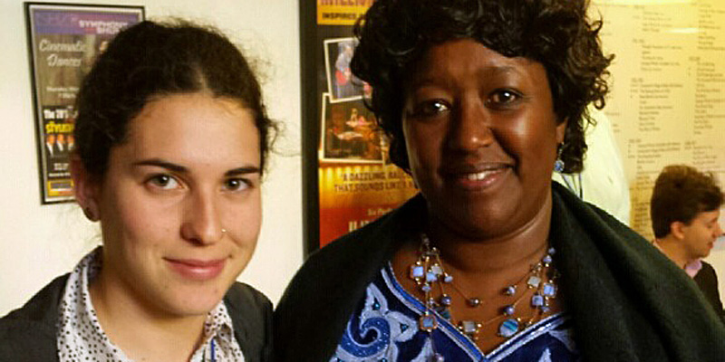 Gabriela Sarriera stands with Rwandan Health Minister