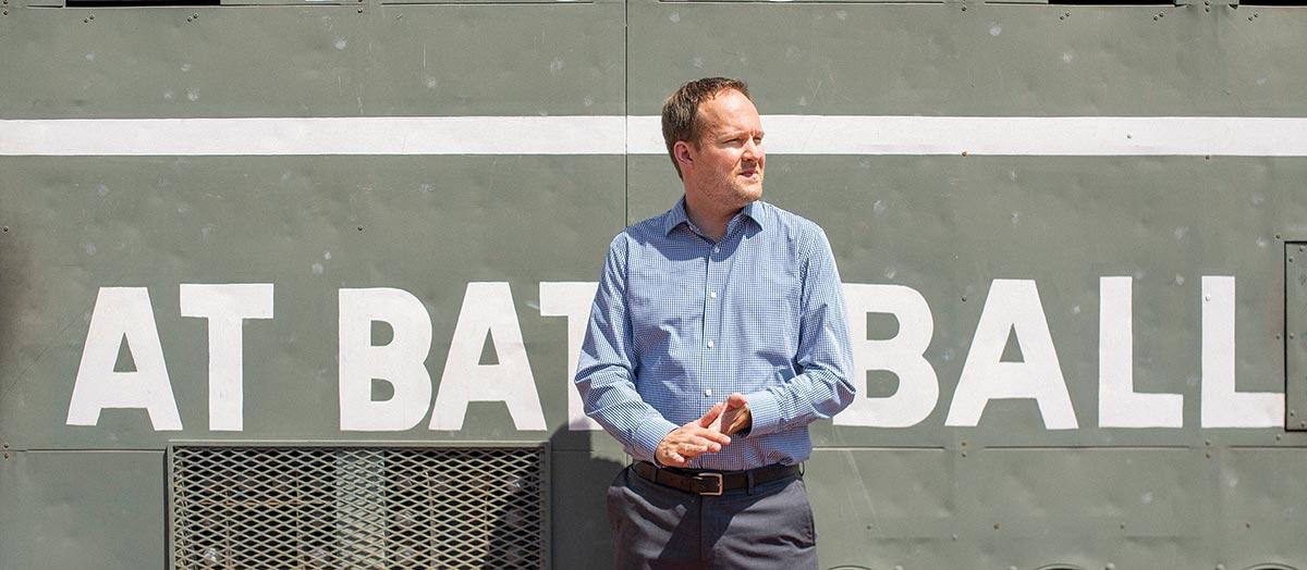 Zack Scott '99, Boston Red Sox VP, in Fenway
