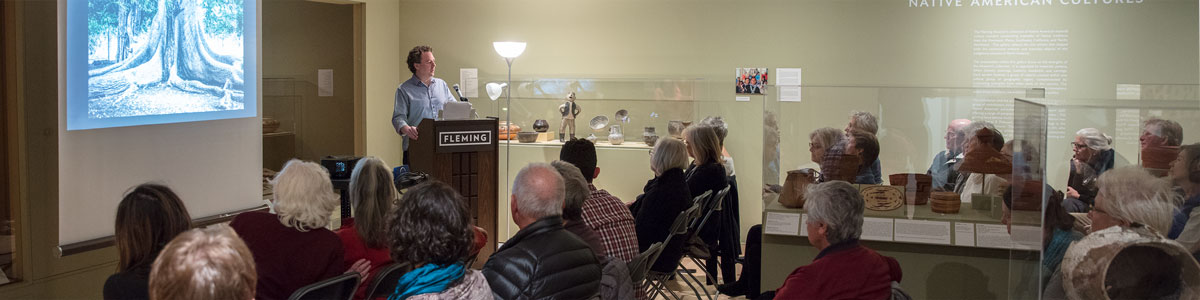 A scholar talk at the University of Vermont' Fleming Museum of Art