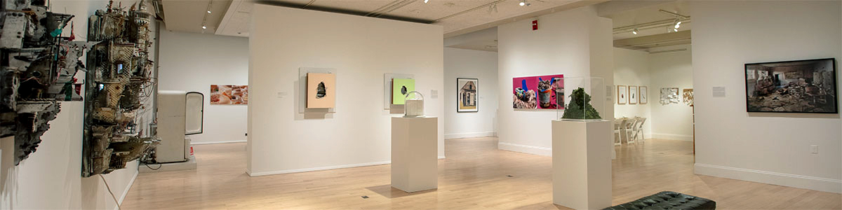 Gallery view of the exhibition Small Worlds: Miniatures in Contemporary Art