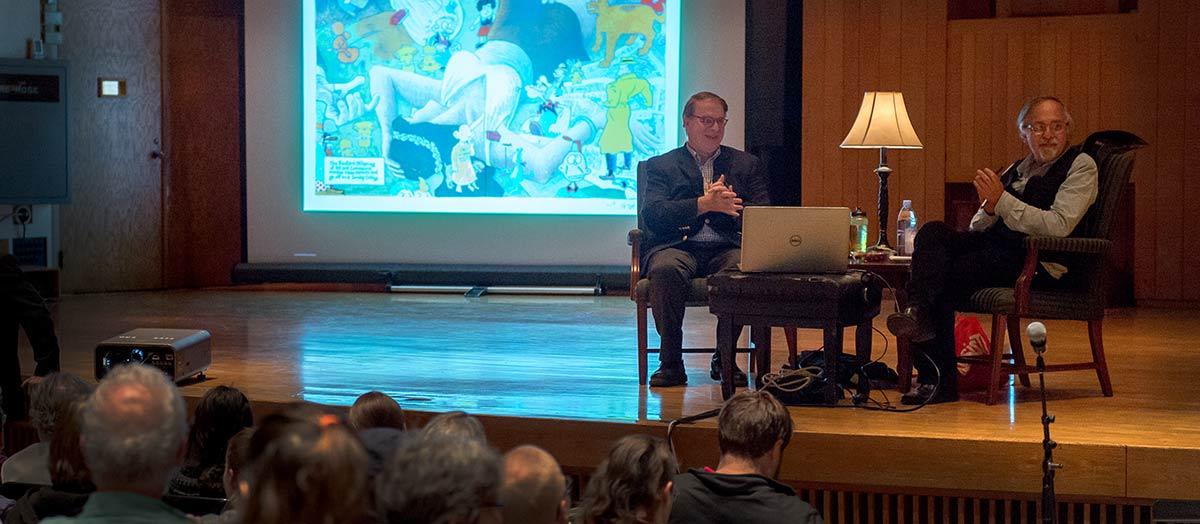 Art Spiegelman and Dan Fogel at UVM