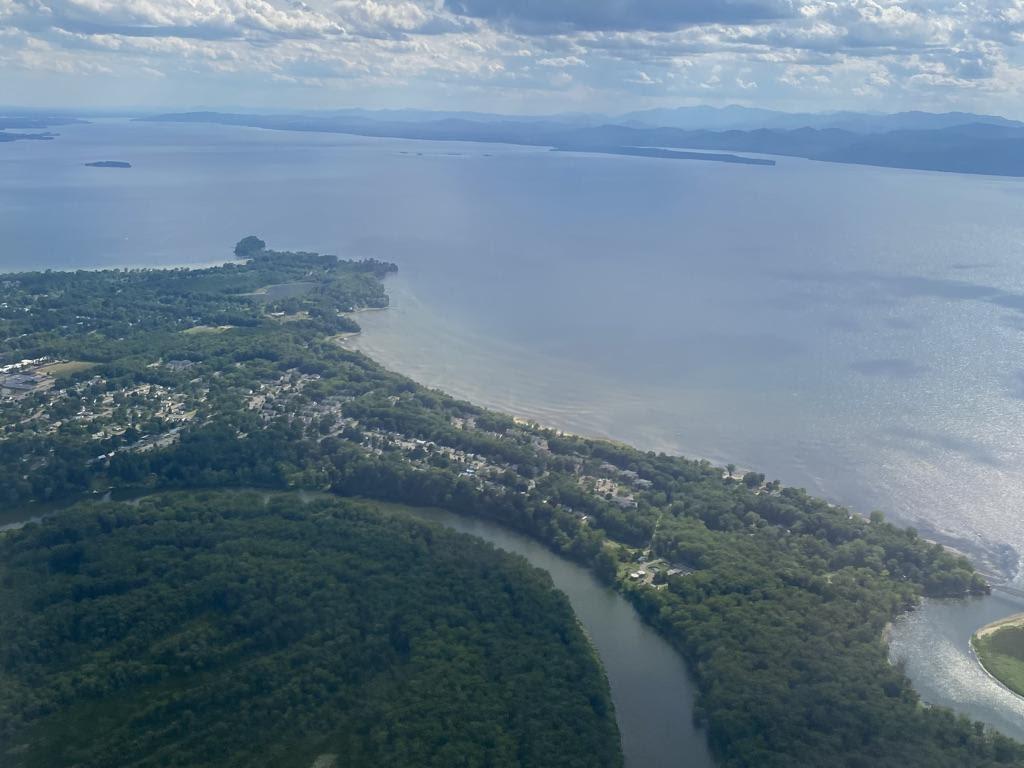 Winooski River delta and Lake Champlain