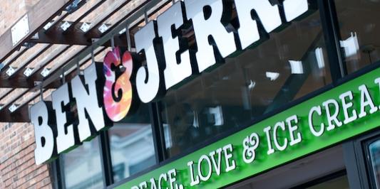 Ben & Jerry's storefront