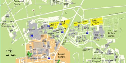 2018 Commencement Parking Map