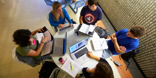 students in a study group