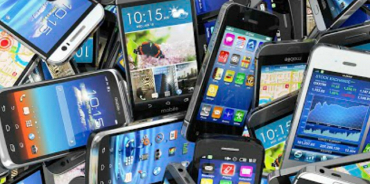 Discarded cell phones