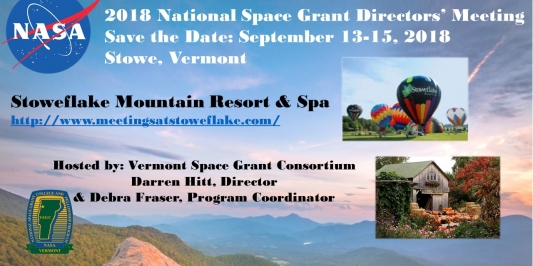 2018 National Space Grant Directors' Meeting, Save the Date