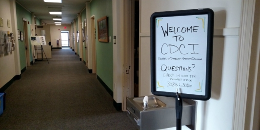 Welcome to CDCI Hallway Sign