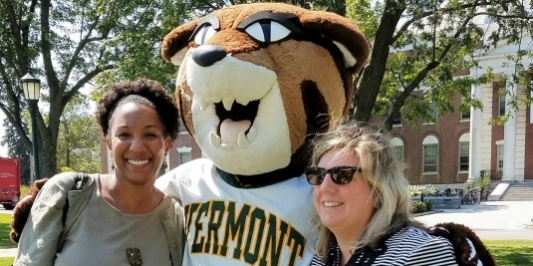 Catamount and employees celebrating a beautiful day.