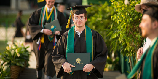 student in regalia