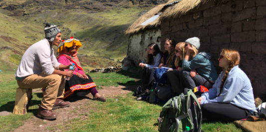 Students learn directly from our community partners during travel study in Peru