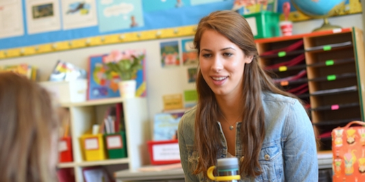 UVM student working with youth in the local community.