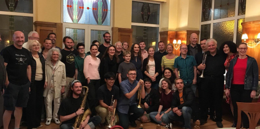 participants of Music in the Alps (Cam Gilmour in front left)