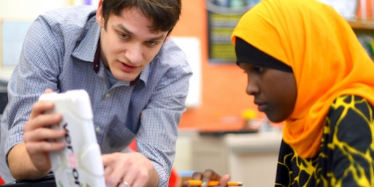 Student teaching at Edmunds Middle School in Burlington
