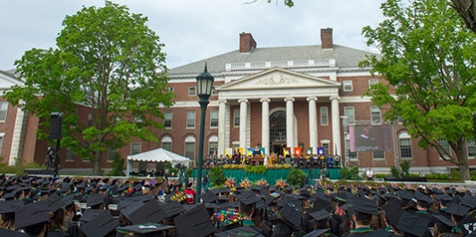 waterman building at commencement