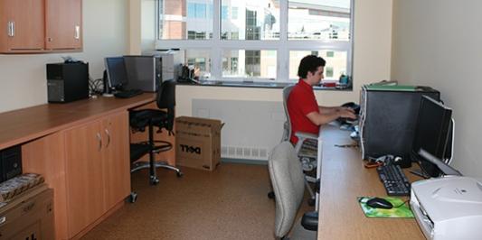 Seth O'Brien in RSENR IT office
