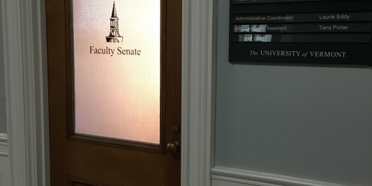Faculty Senate Office Door