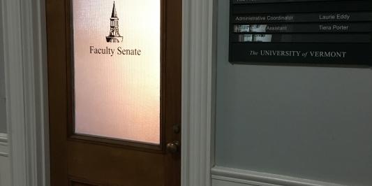Faculty Senate Office Door