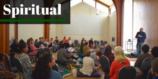 Spiritual gathering of people.