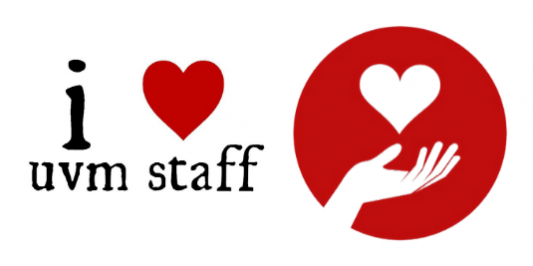 """I heart UVM staff"" logo"