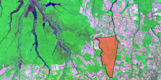 Map of waterways in Tangora