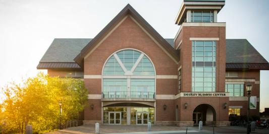 Davis Center in the fall