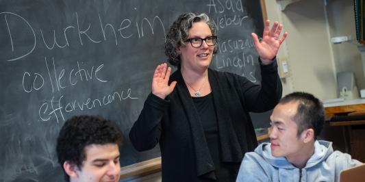 Professor Vicki Brennan teaching