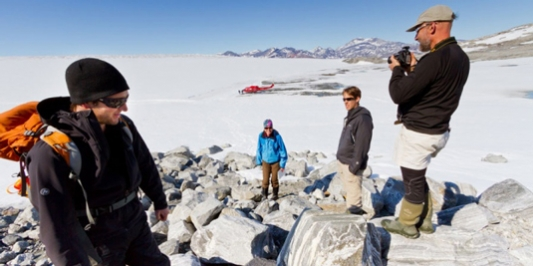 Gund scholars conducting research in the Arctic