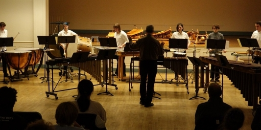 UVM Percussion Ensemble (photo by Mike Lawler)