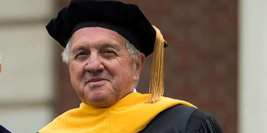 John Bramley at Commencement 2019 as Honorary Degree Recipient