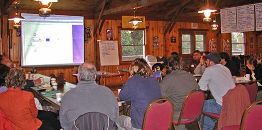 community members at a workshop