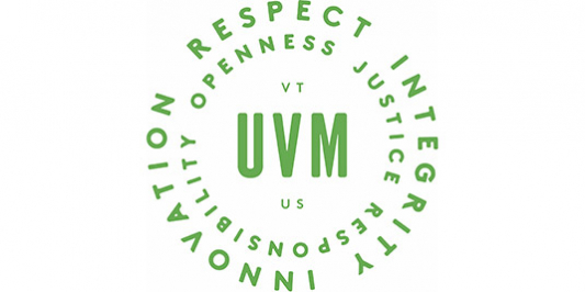 Respect, Integrity, Innovation. Openness, justice, responsibility. UVM. VT. US.