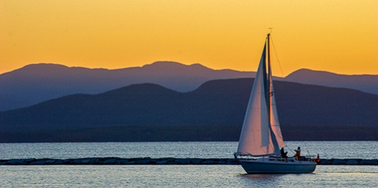 Sailboat on Lake Champlain