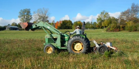 Keyline Plowing on a Northwestern Vermont Research Farm Site